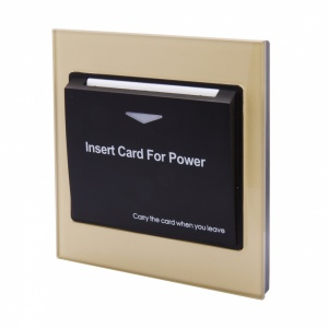 Energy Key Card Saver - Gold/Brass Acrylic