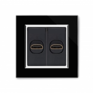Crystal CT Dual HDMI Socket Black