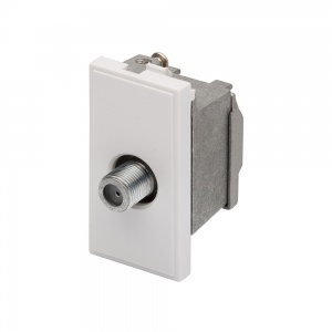 RT SAT F-Connector Outlet (25mmx50mm) White