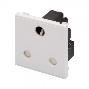 RT 15A Round Pin Socket (50mmx50mm) White