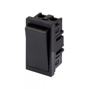 RT 10A 2 Way Rocker  (25mm x 50mm) Black