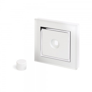 Crystal CT 1 Gang LED Dimmer Plate White