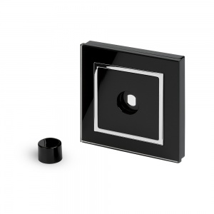 Crystal CT 1 Gang LED Dimmer Plate Black