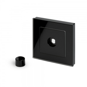 Crystal PG 1 Gang LED Dimmer Plate Black